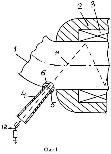 Устройство для вывода ускоренных электронов из авторезонансного ускорителя