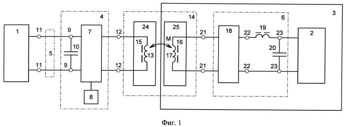Устройство для бесконтактной передачи электроэнергии на подводный объект