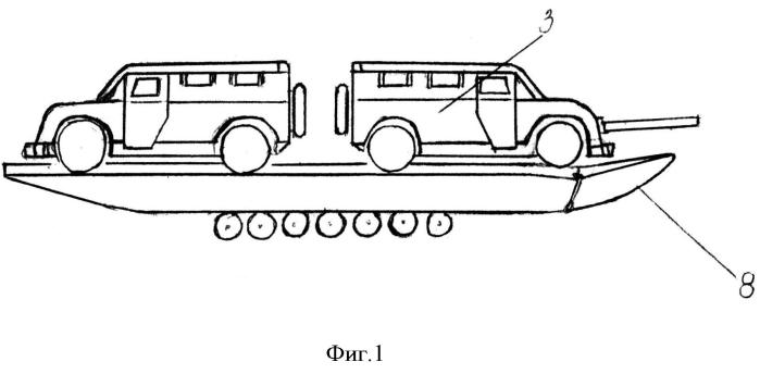Способ десантирования автомобилей и бронемашин в зону боевых действий