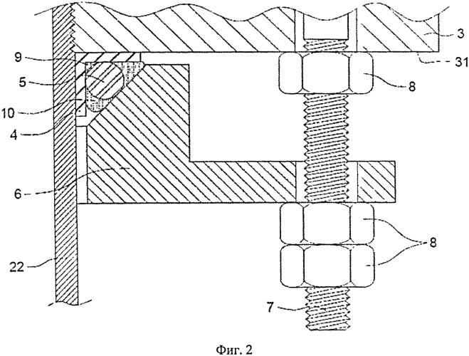 Способ ремонта основного фланца устья скважины на месте