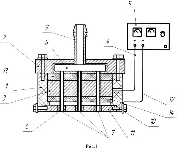 Электростатическая форсунка для сжигания жидкого топлива в факельных топках теплогенерирующих установок