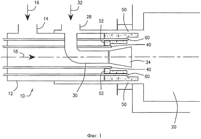 Высокоэффективная горелка, обеспечивающая низкий выброс nox и способ высокоэффективного термического окисления