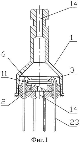 Микроэлектронный датчик давления с чувствительным элементом, защищенным от перегрузки