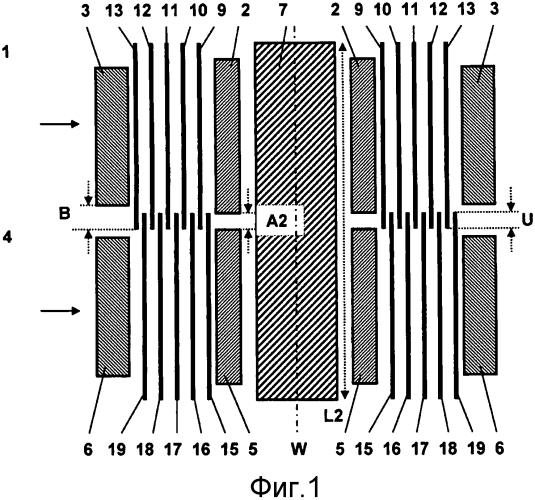Система по меньшей мере с двумя катушками, расположенными в осевом направлении друг над другом на общем стержне сердечника