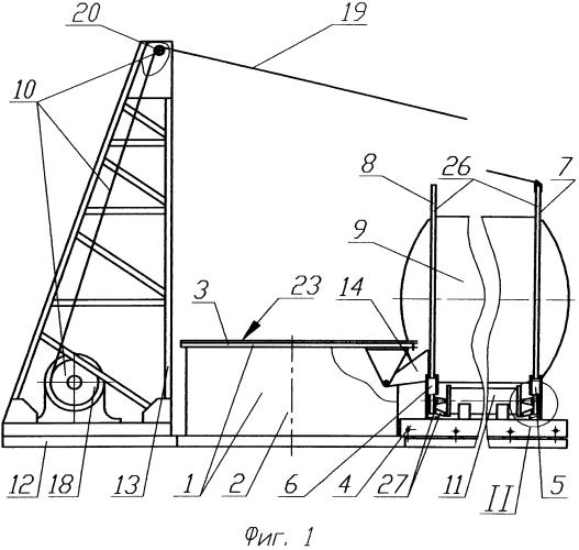 Способ установки ступени ракеты-носителя на испытательный стенд и устройство для его осуществления