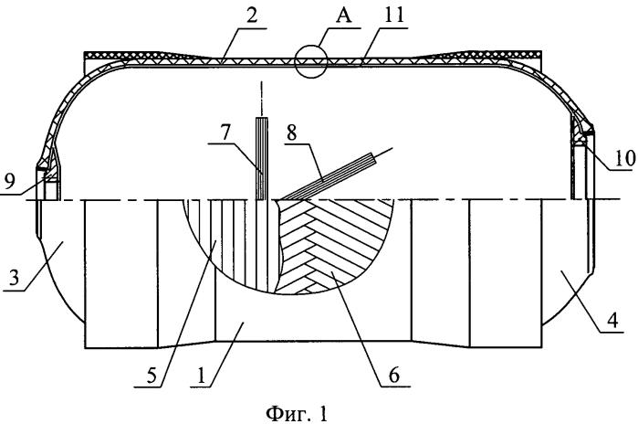 Корпус для высокого давления из композиционных материалов