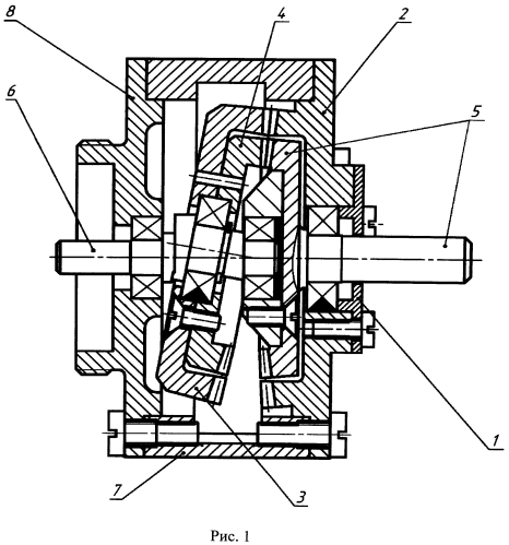 Двухступенчатый конический волновой редуктор