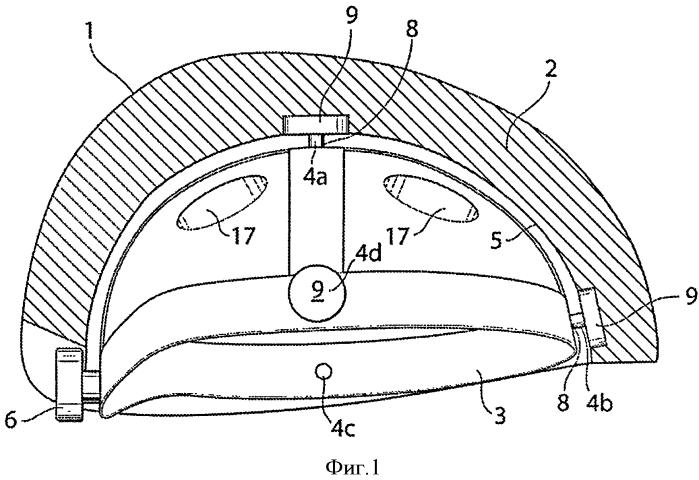 Шлем со средством для облегчения скольжения, расположенным в энергопоглощающем слое