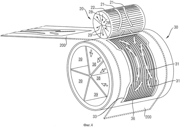 Способ и устройство для изготовления абсорбирующих конструктивных элементов, содержащих абсорбирующий материал