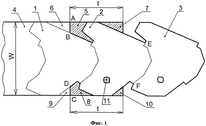 Способ малоотходной однорядной вырубки заготовок из рулона ленты или полосы