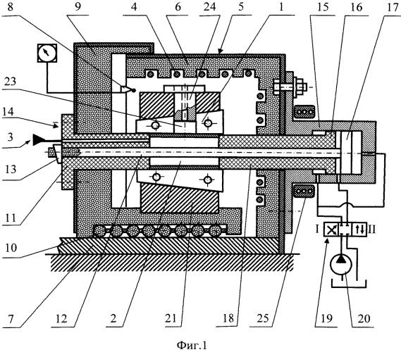 Устройство для газостатической формовки полых заготовок