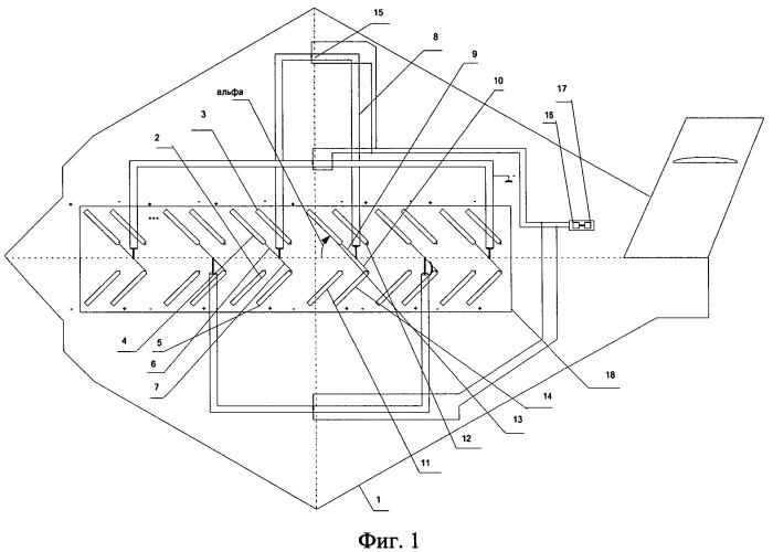 Приемопередающая антенная решетка наклонной поляризации из 2·n-пар v-образных вибраторов, направленных в одну сторону в пространстве
