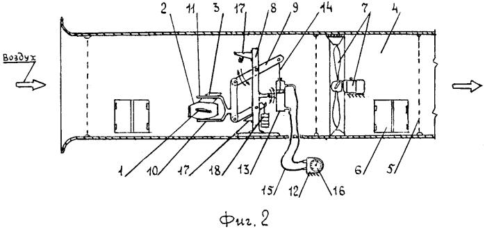 Стенд для определения подъемной силы крыла, установленного на корпусе реактивного двигателя