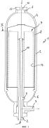 Способ модификации аммиачного реактора с горячей стенкой, имеющего корпус с отверстием, занимающим только часть его сечения