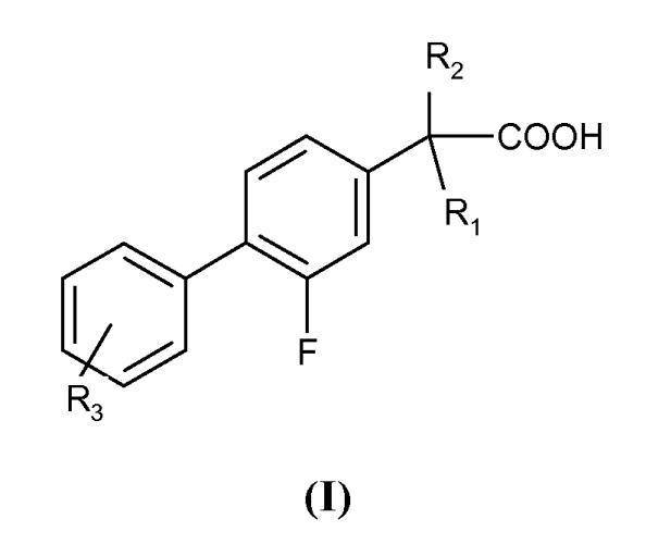 Производные 1-(2-фторбифенил-4-ил)-алкилкарбоновой кислоты для лечения транстиретинового амилоидоза