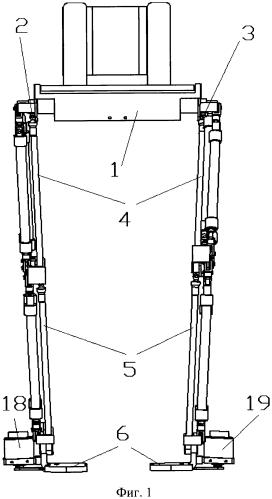 Экзоскелет с электропневматической системой управления