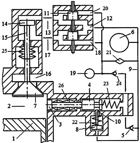 Способ управления рециркуляцией выхлопных газов в двигателе внутреннего сгорания системой пневматического привода газораспределительного клапана с зарядкой пневмоаккумулятора системы газом из компенсационного пневмоаккумулятора