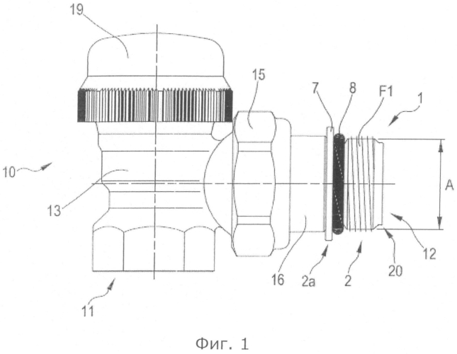 Клапан и фитинговый соединитель, содержащие адаптерный элемент, и способ изменения и выбора диаметров отверстий клапана или фитингового соединителя