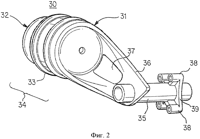 Облегченный составной блок пружинного тормозного привода