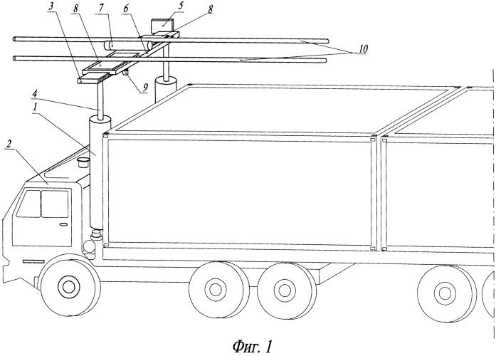 Компактный автоматический токоприемник для грузовых гибридных автомобилей