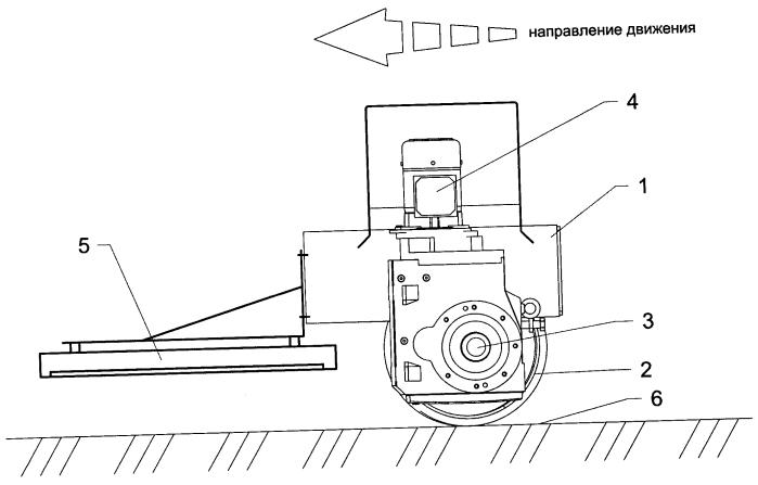 Приводная тележка системы для сбора осадка со дна отстойника
