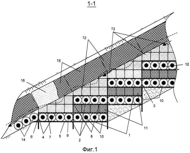 Способ возведения противоэрозионного сооружения биопозитивной конструкции для восстановления оврагов