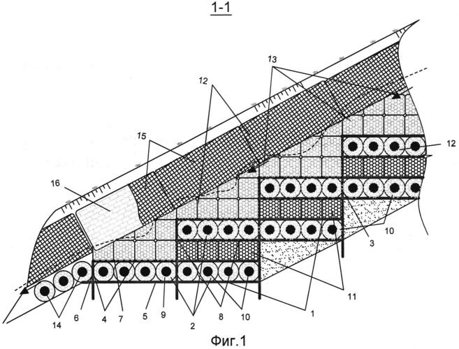 Противоэрозионное сооружение биопозитивной конструкции для восстановления оврагов
