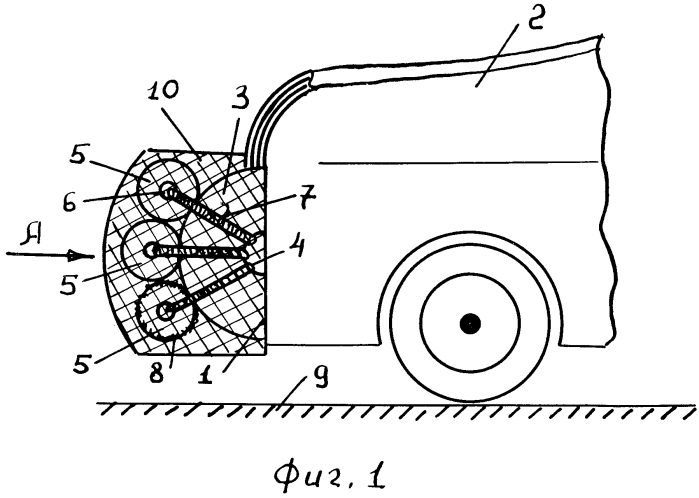 Бампер транспортного средства