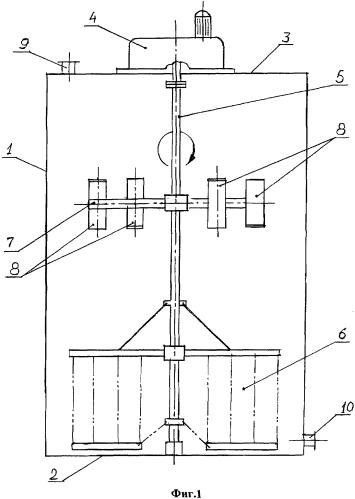 Аппарат для перемешивания суспензий и растворов