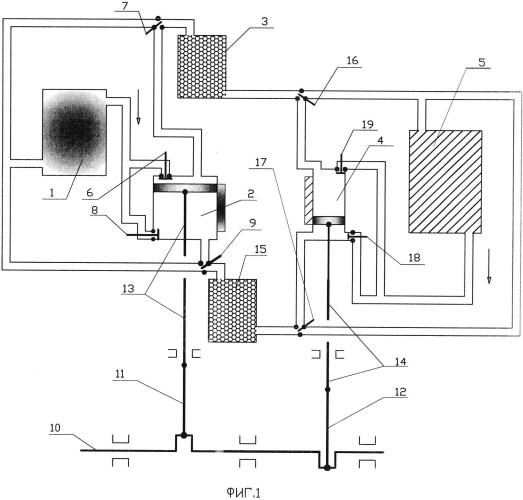 Поршневой двигатель замкнутого цикла