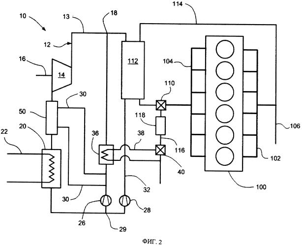 Система утилизации отходящего тепла с частичной рекуперацией