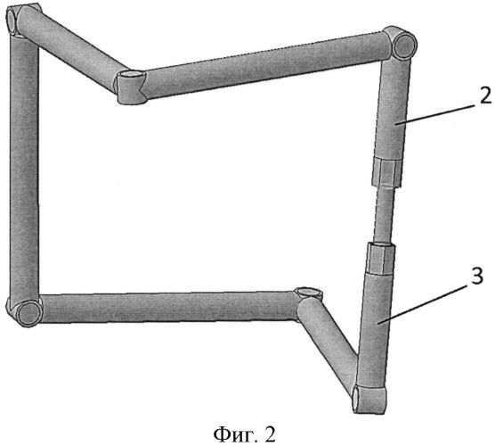 Пространственный шестизвенный механизм с вращательными кинематическими парами