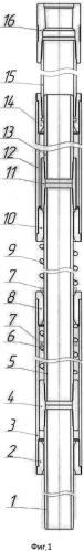 Компенсатор термобарических изменений длины колонны труб с гашением продольных колебаний