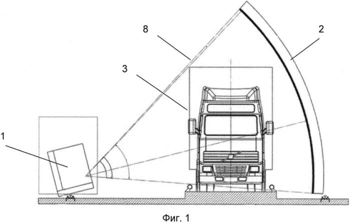 Детекторный узел для сбора данных сканирования в системе интроскопии