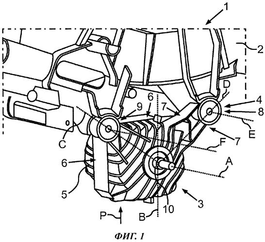 Конструктивный узел, содержащий бак стиральной машины и приводной двигатель, и стиральная машина с таким конструктивным узлом