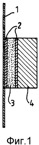 Способ крепления элемента оборудования к стенке и соответствующему резервуару