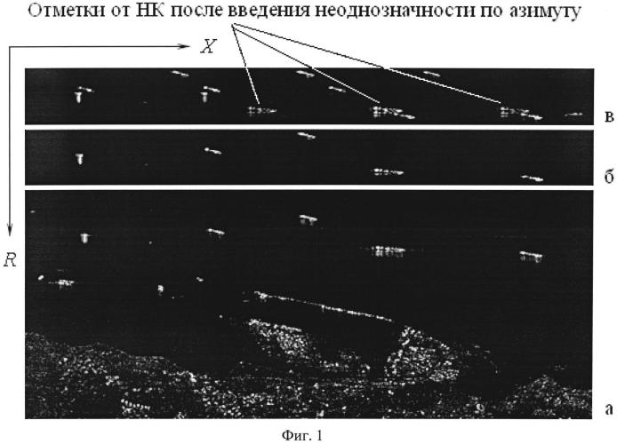 Способ измерения скорости и азимутальной координаты надводных целей радиолокаторами с синтезированной апертурой антенны