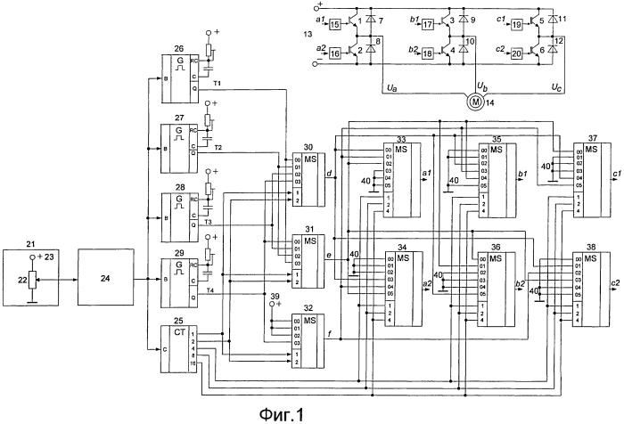 Устройство для управления трехфазным асинхронным двигателем