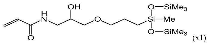 Силиконовый (мет)акриламидный мономер, полимер, офтальмологическая линза и контактная линза