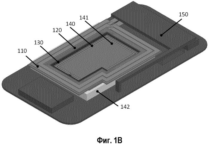 Мобильное устройство связи с беспроводным блоком коммуникации и беспроводным приемником энергии