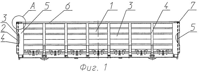 Узел соединения верхних обвязок боковой и торцевой стен кузова полувагона (варианты)