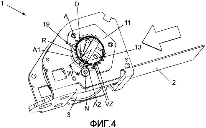 Стопорное устройство с концевой стопорной защелкой для механизма втягивания ремня безопасности