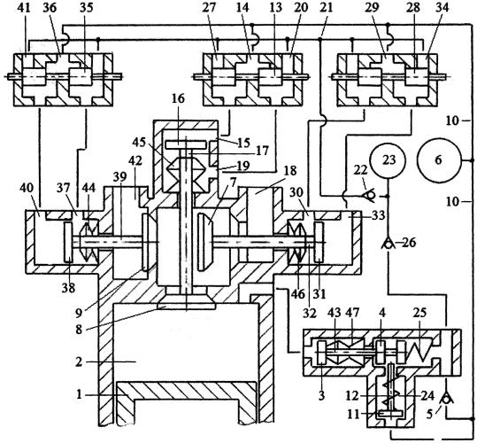 Способ привода клапанов трёхклапанного газораспределителя двигателя внутреннего сгорания пневматической системой привода с зарядкой пневмоаккумулятора системы привода газом из компенсационного пневмоаккумулятора