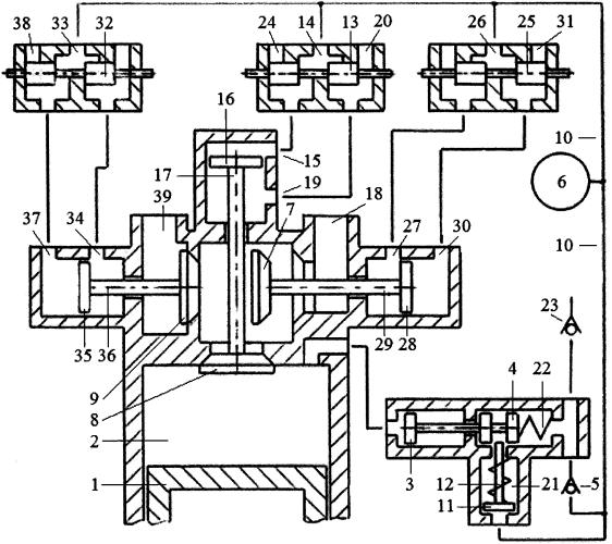 Способ привода клапанов трёхклапанного газораспределителя двигателя внутреннего сгорания пневматической системой привода с зарядкой пневмоаккумулятора системы привода атмосферным воздухом