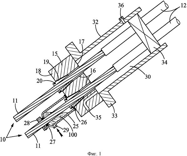Крепежное устройство для многопрядного троса