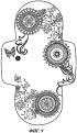 Абсорбирующее изделие с асимметричными напечатанными узорами, служащими для предоставления функциональной информации