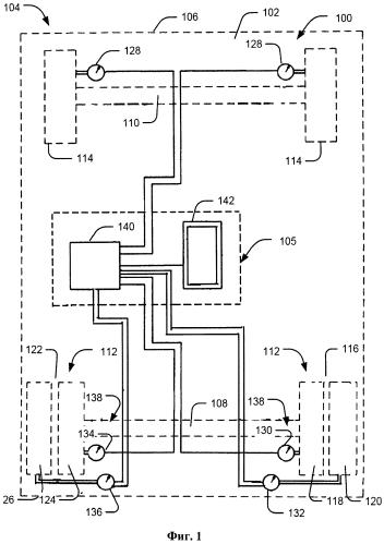 Способ и система определения расположения шин транспортного средства со сдвоенными задними шинами