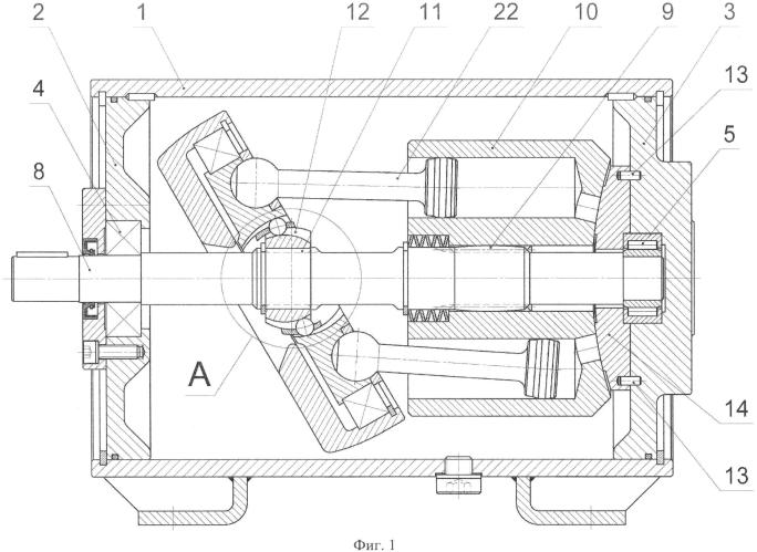Аксиально-поршневая гидромашина с приводным наклонным диском