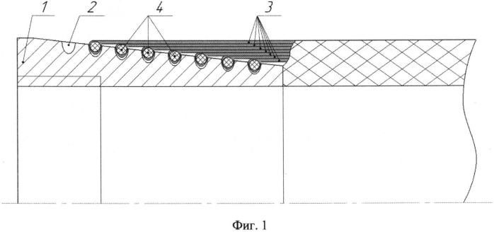 Соединение оболочки из композиционно-волокнистого материала с металлической концевой деталью