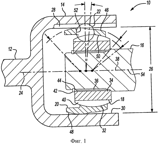Двухсторонний коленчатый шарнир для передачи постоянной частоты вращения